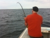 over the shoulder fishing